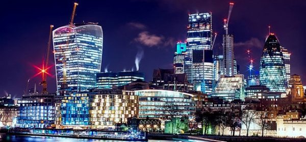 A night shot of London where you can book a full body massage with one of our Asian masseuses