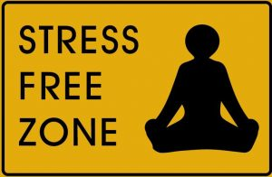 A stress free zone sign