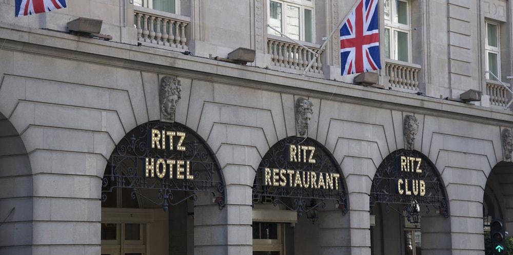 Outside the Ritz hotel London