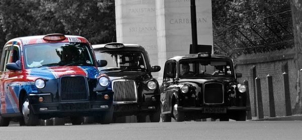 Three London taxis and the perfect transport method to meet an Asian masseuse for a professional massage