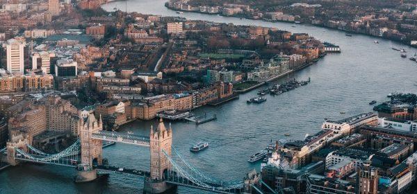 Birdseye eye view across London where you book an outcall massage